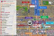 Map of Downtown Phoenix showing projects currently under construction and planned with Alta Fillmore highlighted