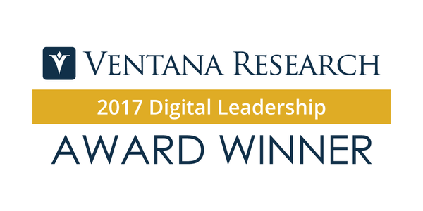 Ventana Research Announces Recipients for the 2017 Digital Leadership Awards