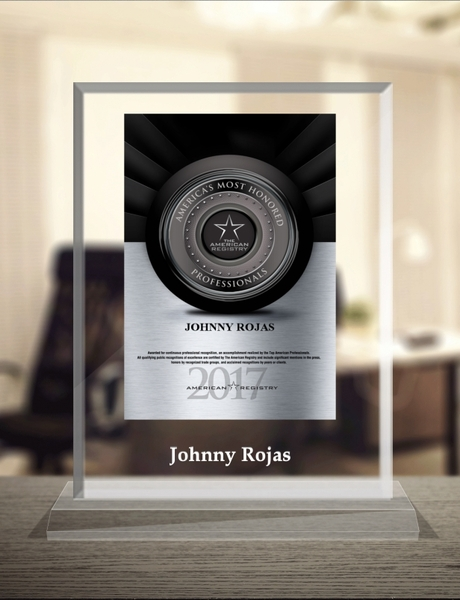 "Johnny Rojas Selected For ""America's Most Honored Professionals 2017"""