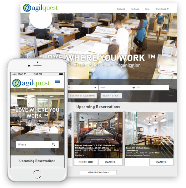 AgilQuest Releases Cloud-Based Workplace Scheduling System for Finding, Reserving, Even Sharing Workspace