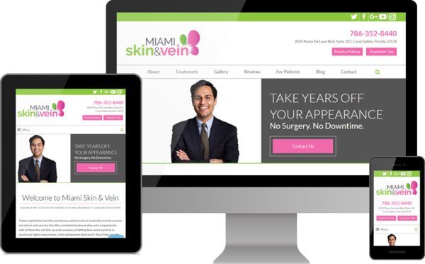 Miami Skin and Vein Launches New Website for Patients Seeking Premier Skin Care, Laser and Injectable Treatments in South Florida