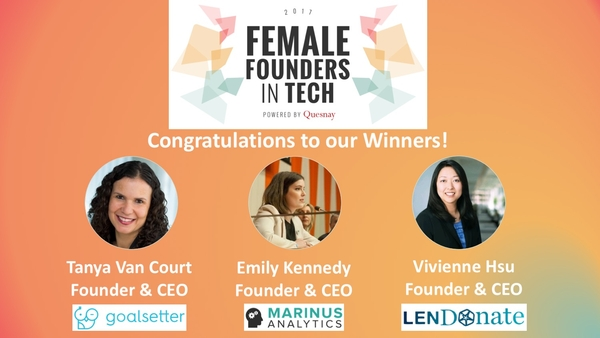 Quesnay's Female Founders in Tech Program Awards Goalsetter First Place