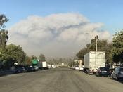 <strong>View of smoke from the Thomas wildfire</strong>