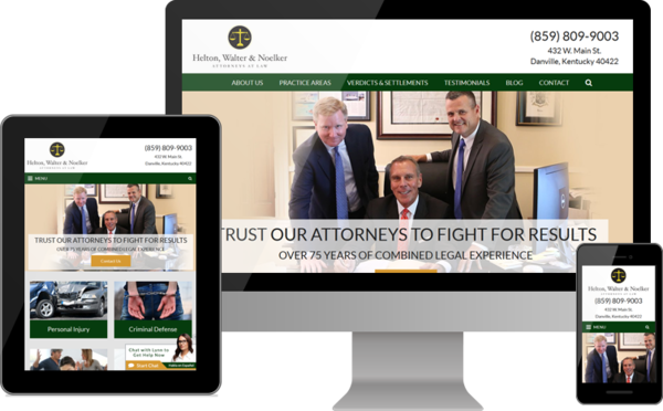 Helton, Walter & Noelker Attorneys at Law Launches New Website for Legal Clients in Central Kentucky