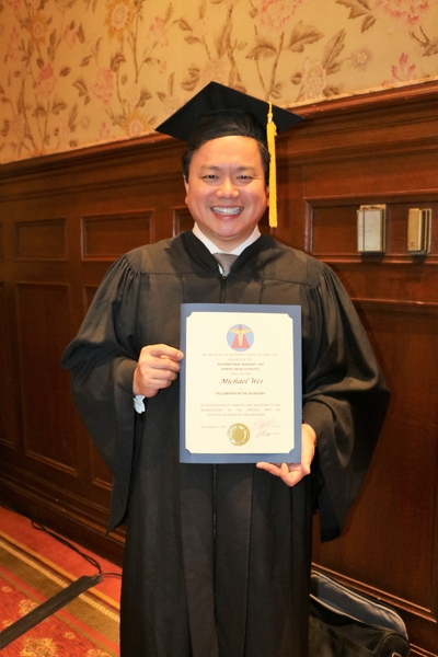 Dr. Michael J Wei, NYC Dentist, Receives Dental Fellowship Award