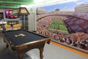 <strong>Tennessee Volunteers man cave furnished with TeamSportsGift.com pool table.</strong>