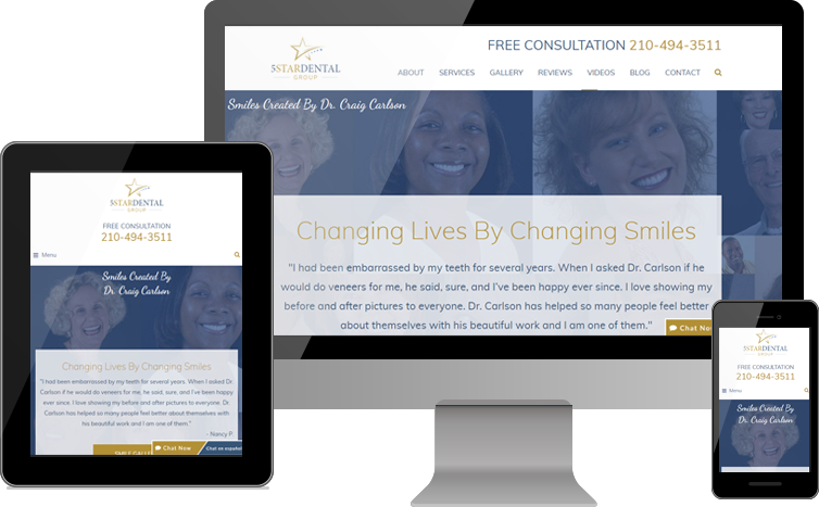 5 Star Dental Group Focuses on Patients' Smiles, Reviews for New Website Design