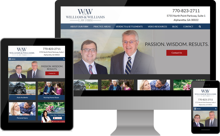 Williams & Williams Law Firm Debuts New Website for Personal Injury Clients in the Atlanta Area
