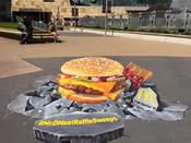 <strong>3D painting by We Talk Chalk for McDonalds</strong>