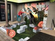 <strong>3D painting &quot;Prehistoric Tetris&quot; by We Talk Chalk for The LinQ Promenade</strong>