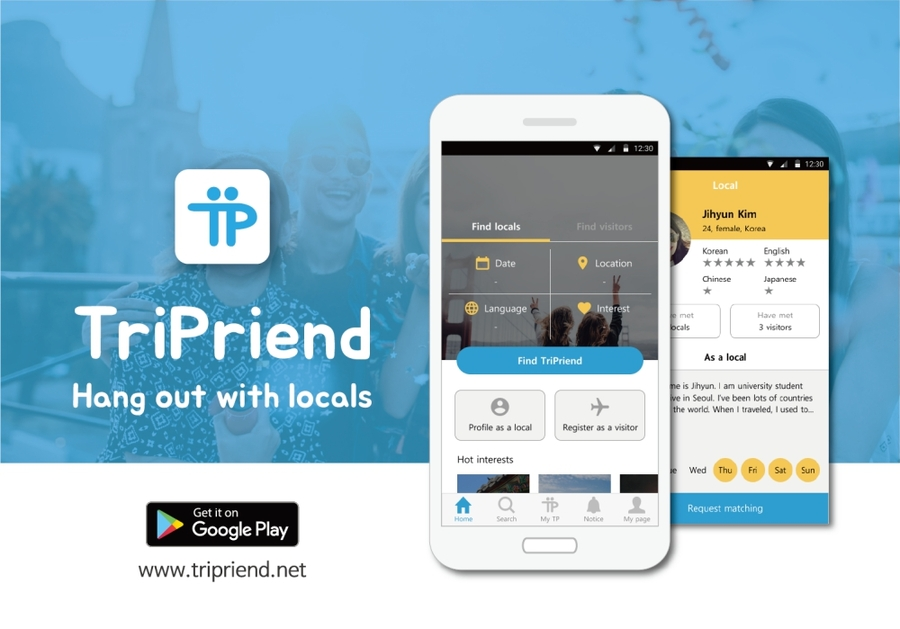 o2o, the Whole World becoming Friends Foreign Friends Matching Platform 'TriPriend'