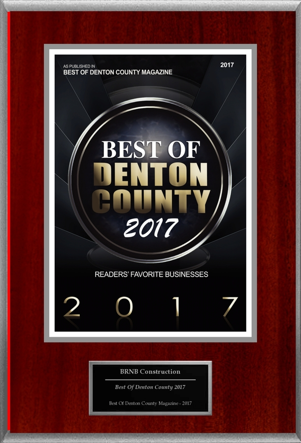 "BRNB Construction Selected For ""Best Of Denton County 2017"""