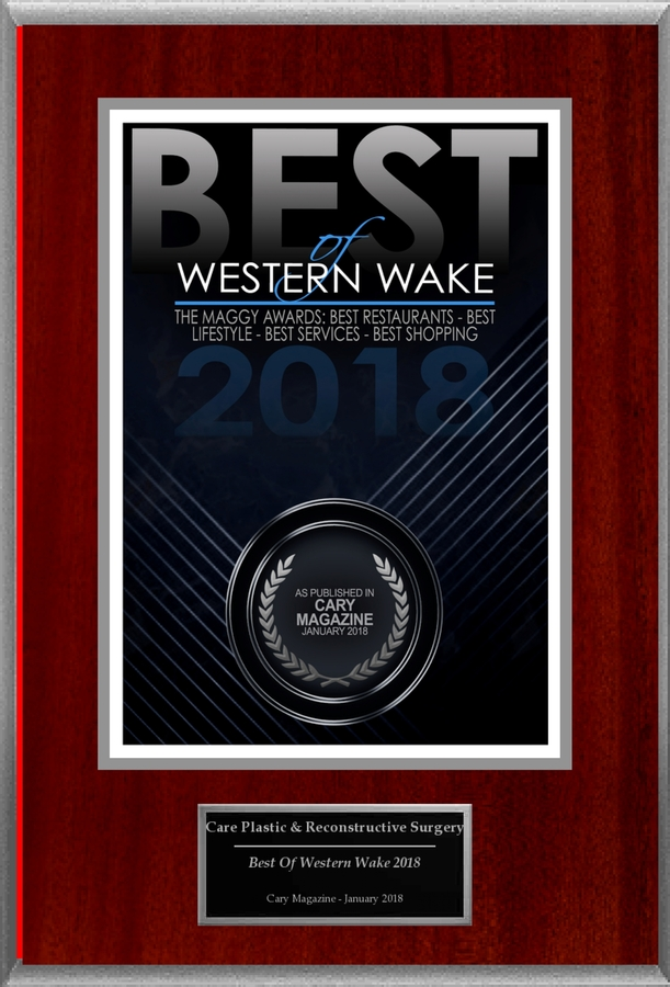"CARE Plastic Surgery Selected For ""Best Of Western Wake 2018"""