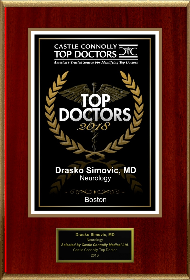 Dr. Drasko Simovic is Recognized Among Castle Connolly Top Doctors  for Boston, MA Region in 2018