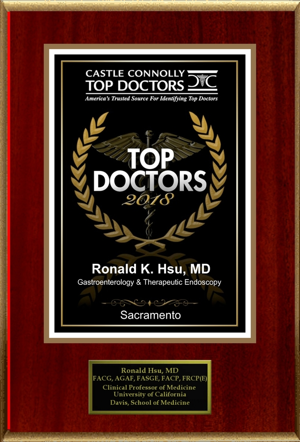 Dr. Ronald Hsu is Recognized Among Castle Connolly Top Doctors for Sacramento, CA Region in 2018