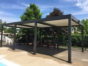 <strong>Aluminum Pergola for an Outdoor Pool</strong>