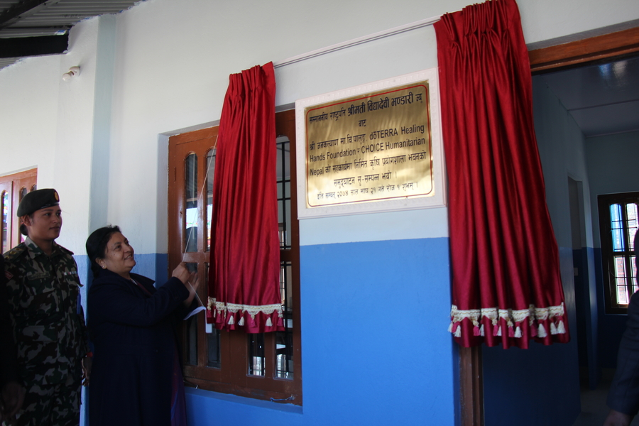 President of Nepal Inaugurates Agriculture Lab Built by CHOICE Humanitarian Nepal