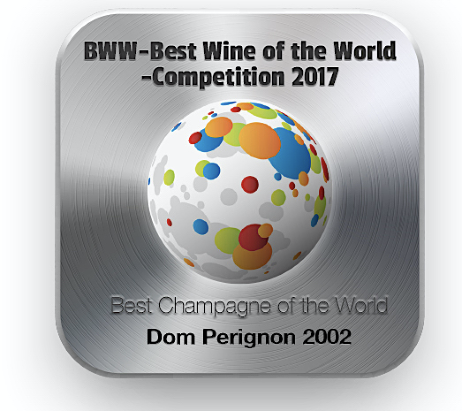 BWW- Best Wine of the World 2017 Competition's Winners Have Been Selected – The Best Champagne of the World is Dom Perignon 2002