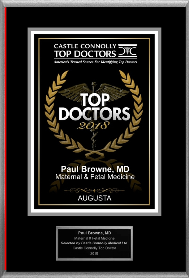 Dr. Paul C. Browne is Recognized Among Castle Connolly Top Doctors for AUGUSTA, GA Region in 2018