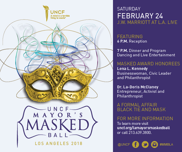 UNCF Mayor's Masked Ball Los Angeles is Investing in America's Future