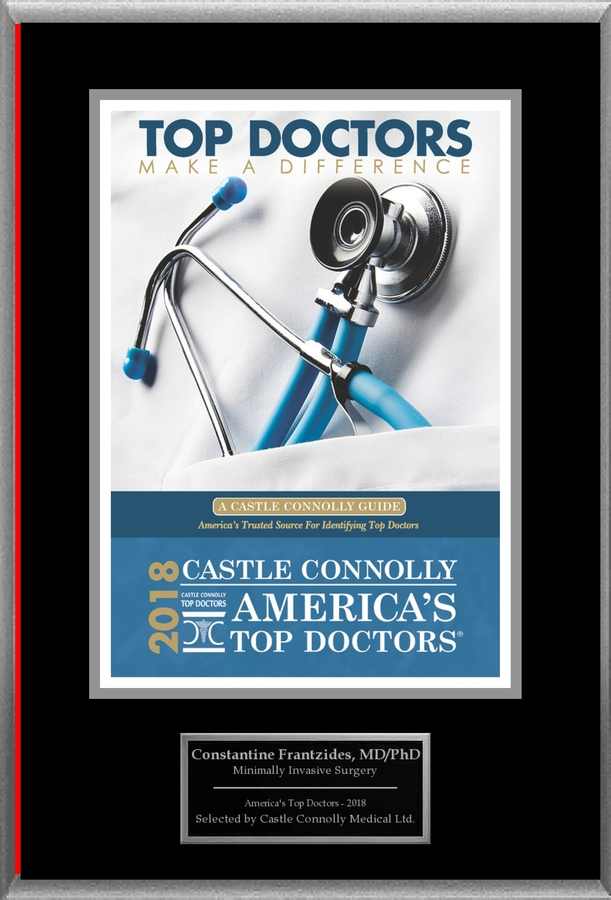 Dr. Constantine Frantzides, a Specialist in Surgery, is Named One of America's Top Doctors  2018