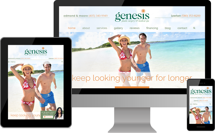 Genesis Plastic Surgery & Medical Spa Reveals New Website Design