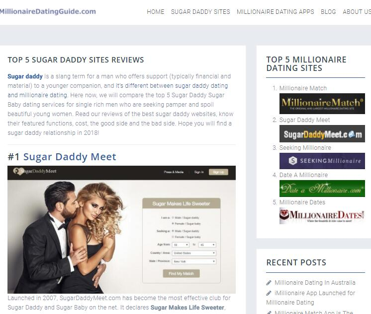 MillionaireDatingGuide.com Now Provides Accurate and Reliable Sugar Daddy Dating Websites Reviews