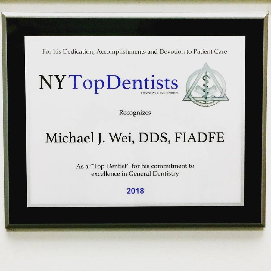 Dr. Michael J. Wei, NYC Dentist, Named New York Top Dentist for 2018