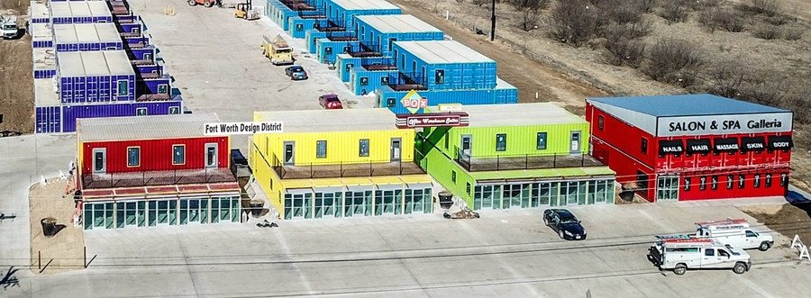 Discover the Shipping Container Buildings at Fort Worth Design District