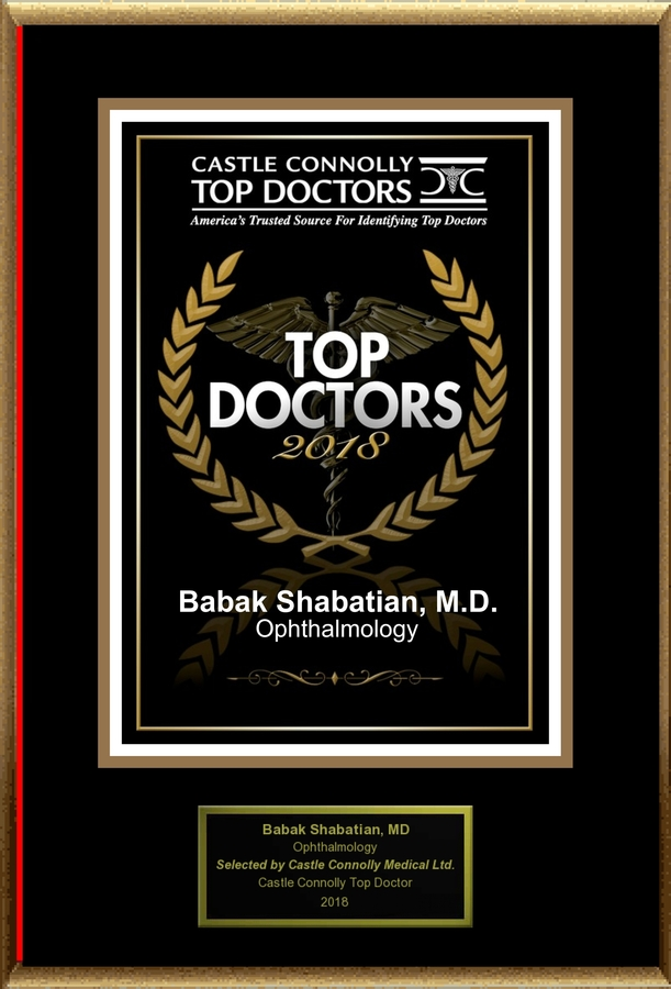 Dr. Babak Shabatian is Recognized Among Castle Connolly Top Doctors for Torrance, CA Region in 2018