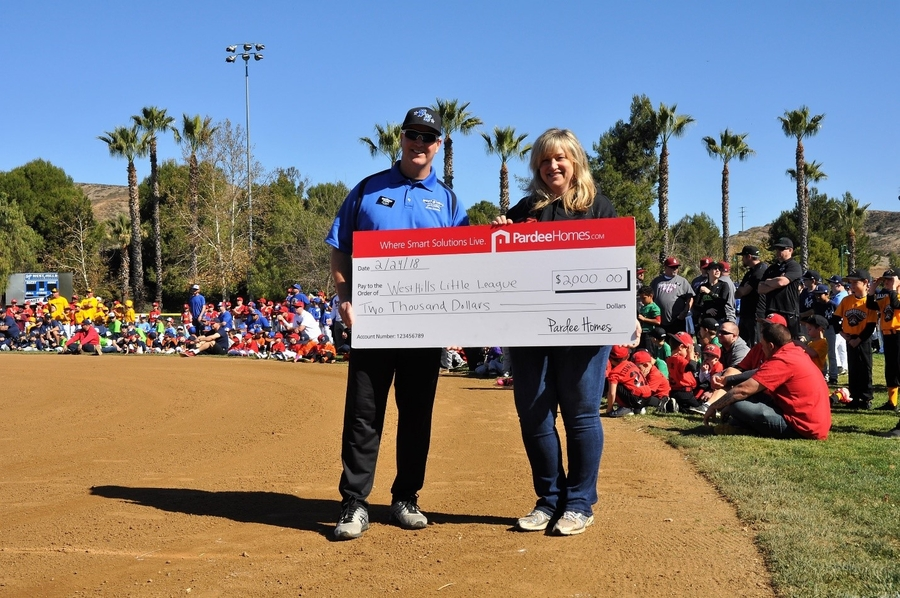 Pardee Homes Helps Kick Off the Season at West Hills Little League's Opening Day