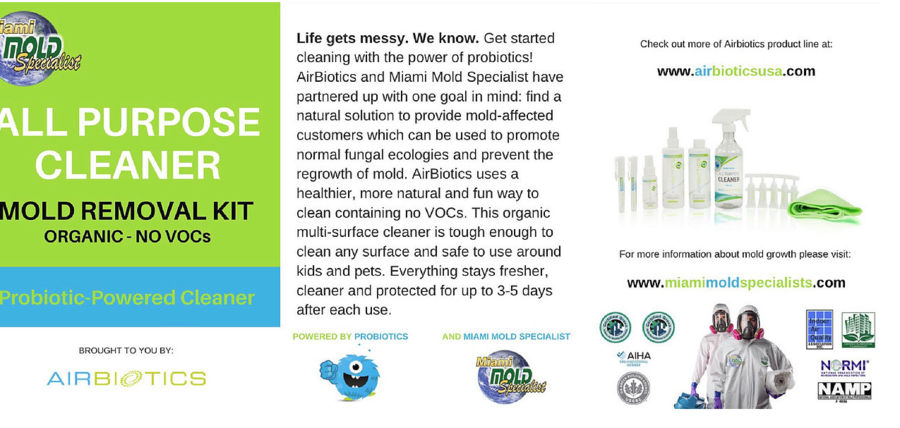 Miami Mold Specialists Integrates Airbiotics into Extensive Line of Indoor Environmental Services