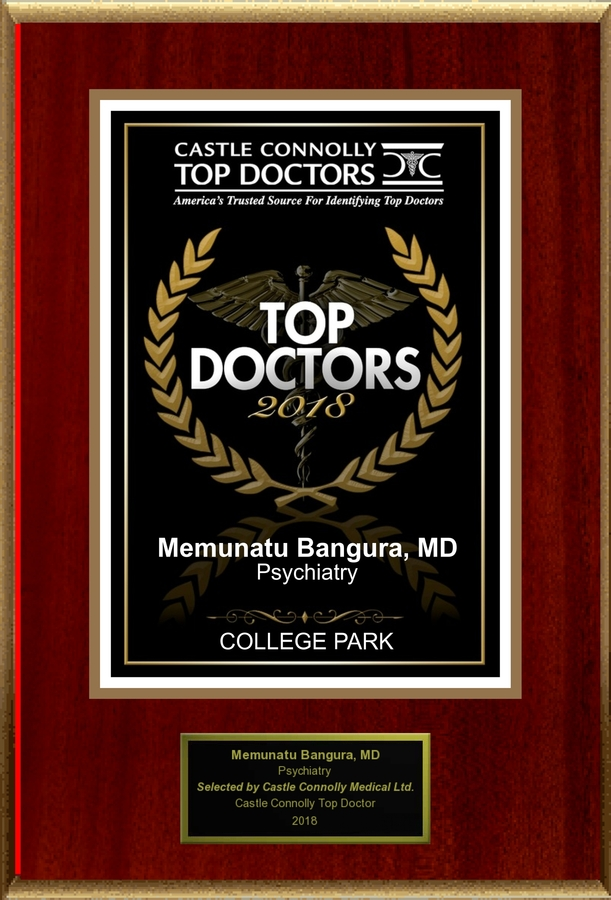 Dr. Memunatu Bangura is Recognized Among Castle Connolly Top Doctors® for COLLEGE PARK, MD Region in 2018