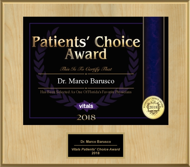 Dr. Marco N Barusco Honored With 2018 Patients' Choice Award