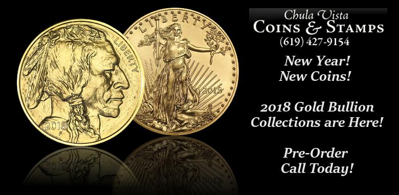 Chula Vista Coins Announces their Online Sales of 2018 Gold Bullion Coins