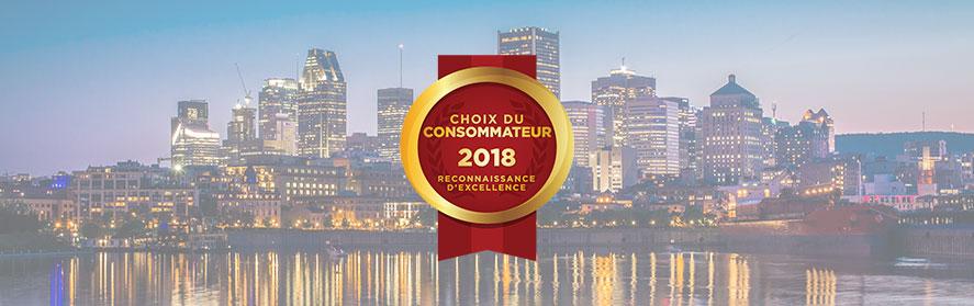 Lauréats du Choix du Consommateur 2018 |Région métropolitaine de Montréal