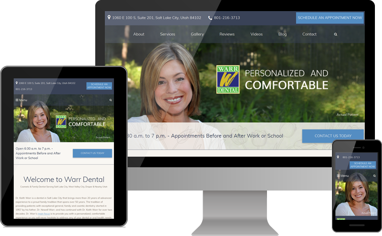 Warr Dental Unveils New Website Design Highlighting Approachable Office, Cosmetic Dentistry Results