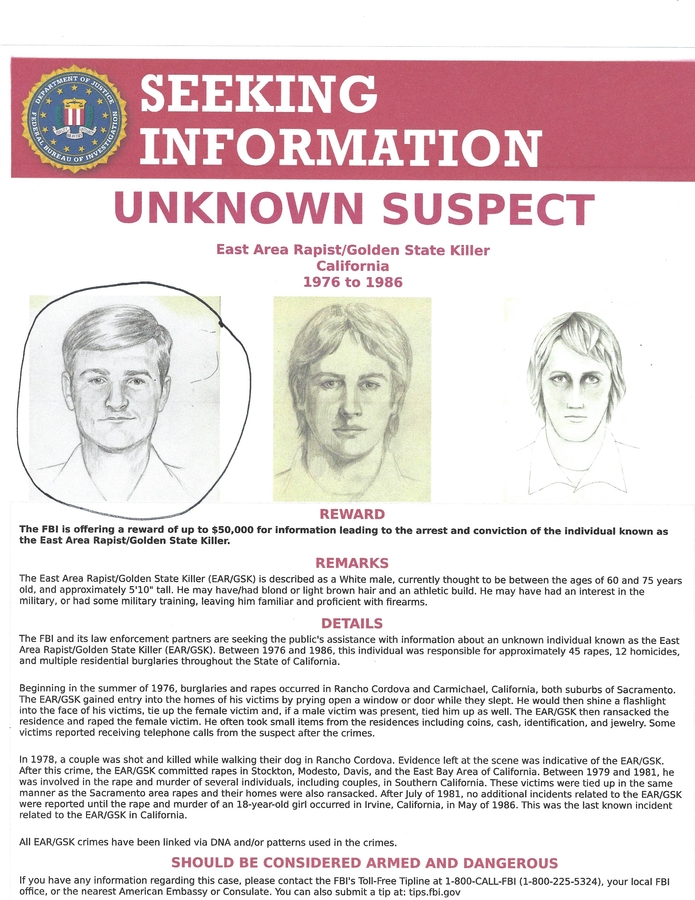 Golden State Killer Has Been Identified