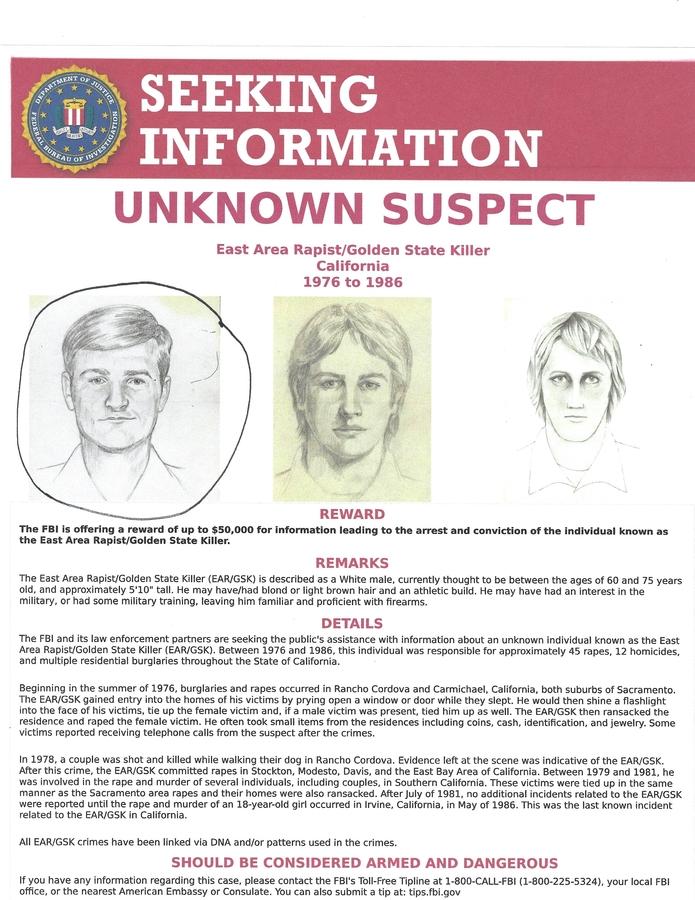 Golden State Killer Has Been Identified