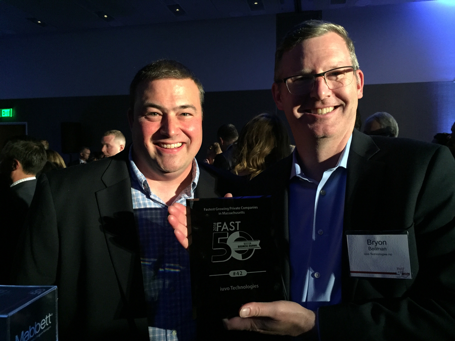 iuvo Technologies is Named One of Boston Business Journal's 2018 50 Fastest-Growing Companies