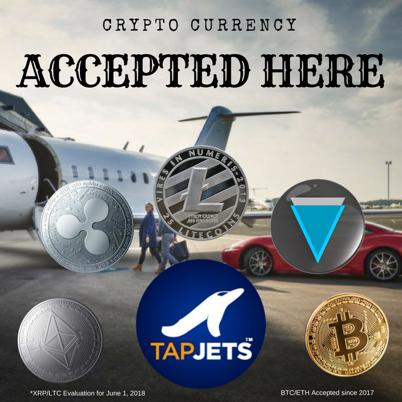 TapJets Inc – The World's Largest Private Jet Instant Booking Platform – Adds Litecoin ($LTC) as New Payment Option