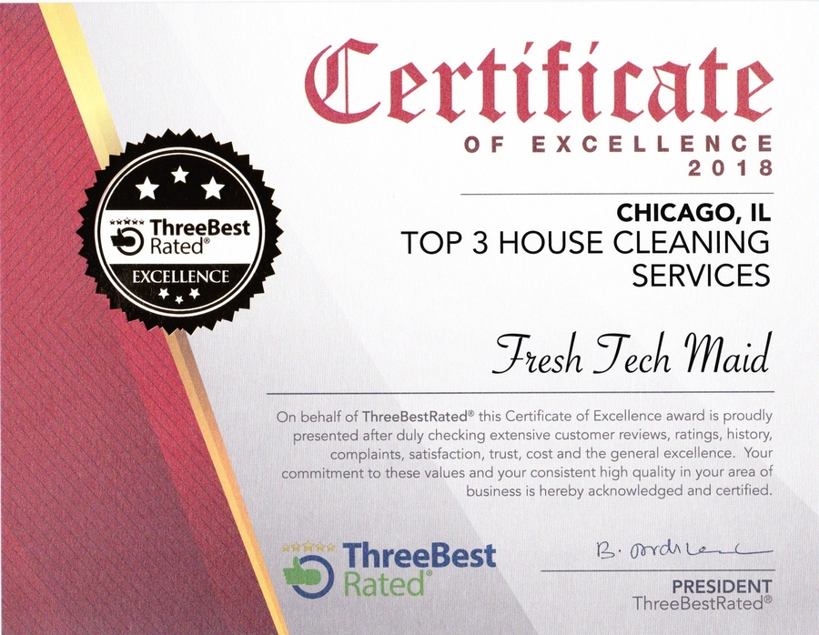 Fresh Tech Maid Named Top Maid Service Chicago