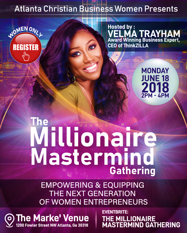 Award Winning Business Expert and Speaker Velma Trayham Offers Free Millionaire Mastermind Gatherings to Help Women Launch & Grow Successful Enterprises