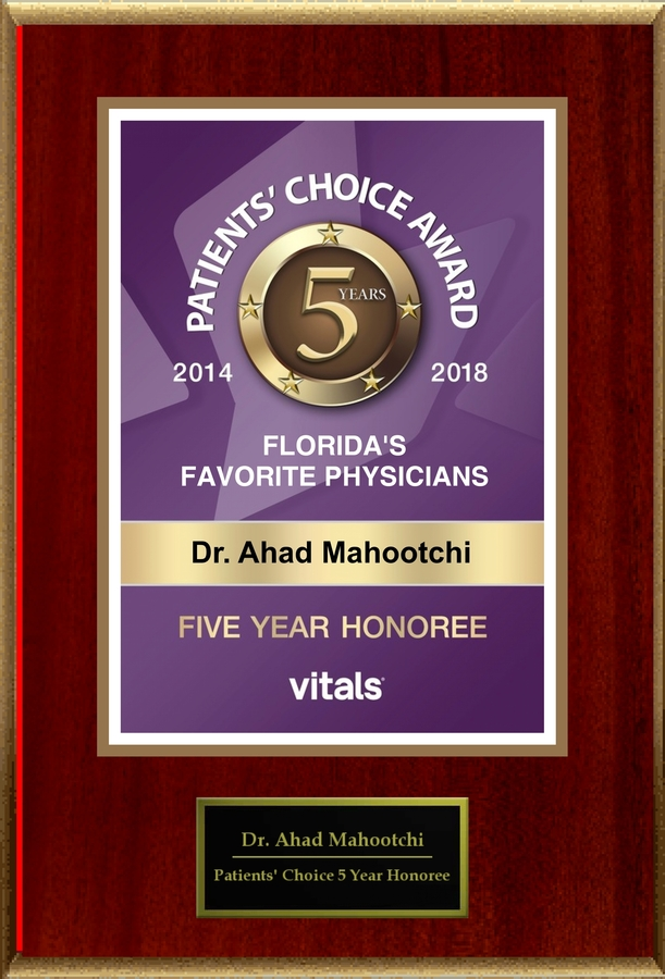 Dr. Ahad Mahootchi Named Among the Top 1% of Doctors in the Nation