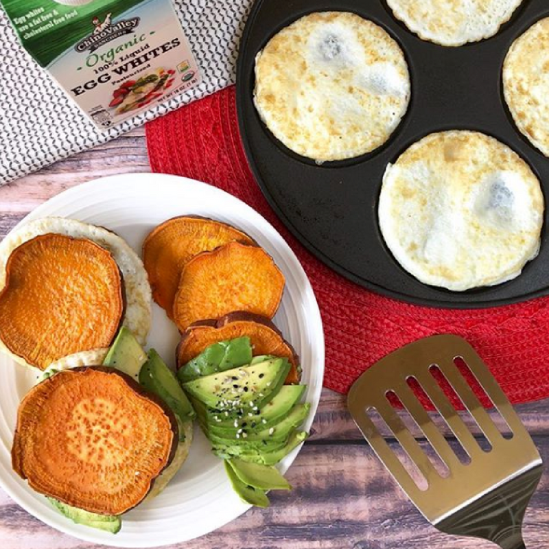 Chino Valley Ranchers' Egg Whites Mentioned in Popular San Diego Food Blogger's Healthy Sweet Potato Sliders Recipe