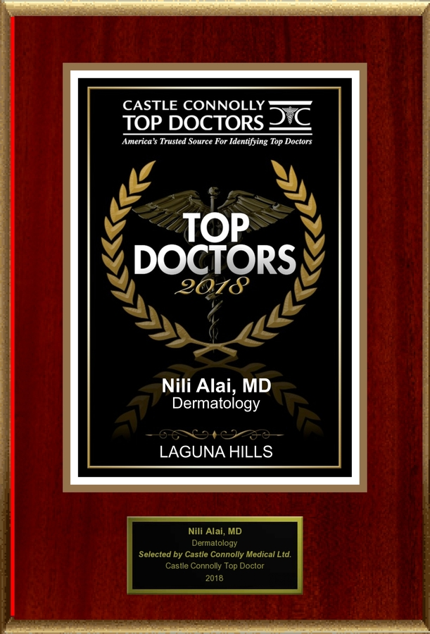 Dr. Nili N. Alai, M.D., FAAD is Recognized Among Castle Connolly Top Doctors® for LAGUNA HILLS, CA Region in 2018