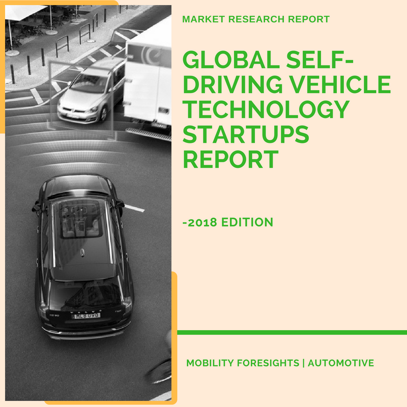 Global Self-Driving Vehicle Technology Startups Report- 2018 Edition