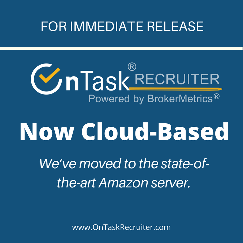 OnTask Recruiter Database is Now Cloud-Based