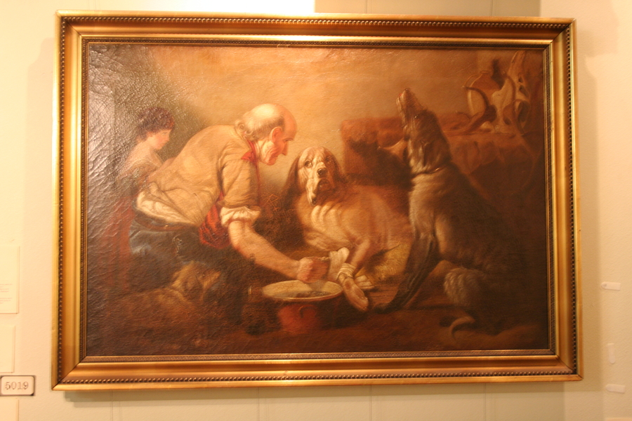 "Richard Ansdell's ""The Wounded Companion"" is One of The Many Painting on Display at The DFW Elite Toy Museum"