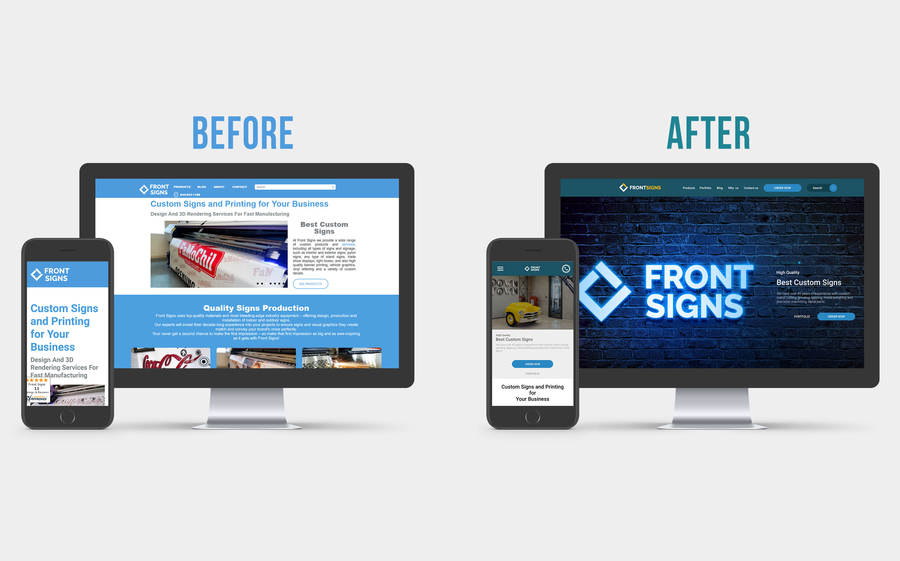 Front Signs Announces the Launch of Its Re-Branded Website!